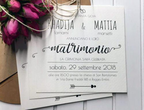 partecipazioni di nozze su carta